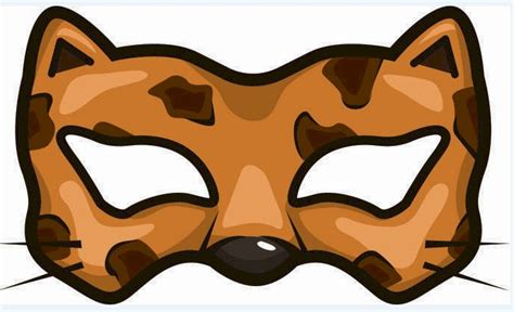 cheetah mask template printable cheetah mask