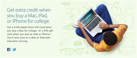 Apple 100 Gift Card Back To School - apple launches 2014 back to school promotion with apple store gift cards up to 100