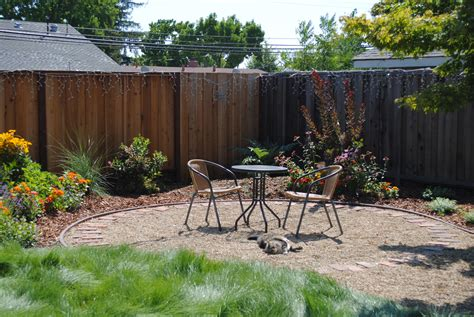 backyard patio ideas with gravel photos landscaping