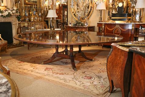 custom made wide dining table for sale at 1stdibs