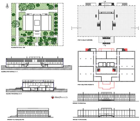 crown hall floor plan crown hall 2d disegni dwg