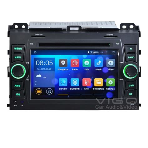 android 4 4 car stereo 7 quot android 4 4 car stereo gps navigation for toyota land cruiser prado 120 series autoradio dvd