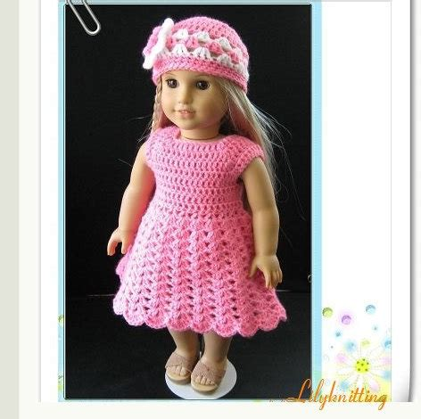 crochet pattern doll clothes pattern in pdf crocheted doll dress for american girl gotz