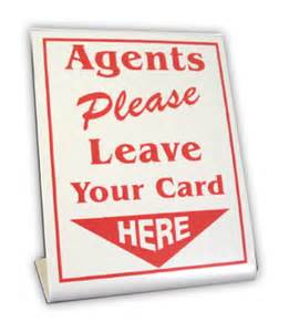 why do realtors leave business cards stand up cards real estate signs and custom signage