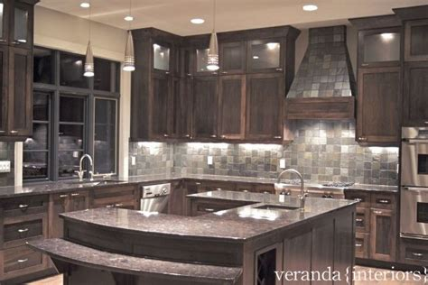 kitchen with u shaped island