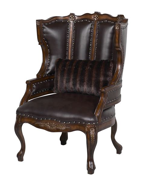 Accent Chair by Benetti S Italia Cavali Wood Trim Accent Chair