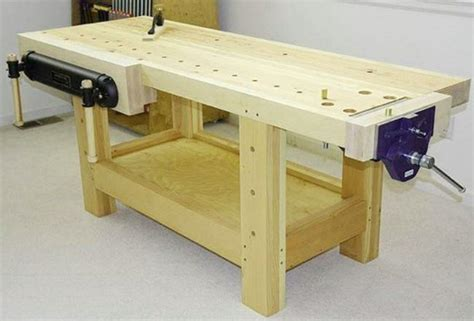 Garage Bench Ideas by Garage Wooden Work Bench Plans Functions Spotlats