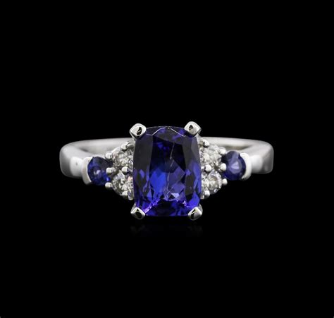 1 78ct tanzanite blue sapphire and ring 14kt