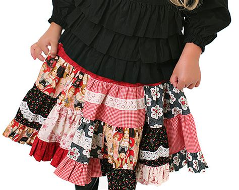 Patchwork Skirt Pattern Free - sew baby embellished patchwork twirl skirt by scientific