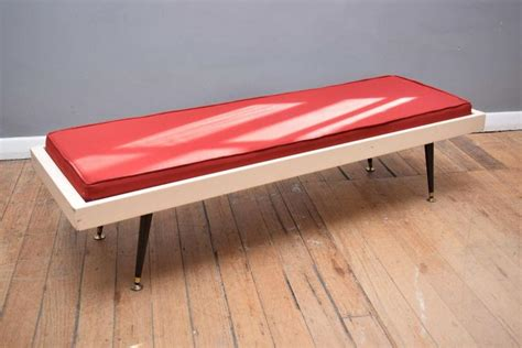 retro bench seat a red fabric retro bench seat