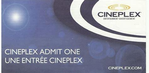 cineplex voucher free cineplex admit one coupon canada only other