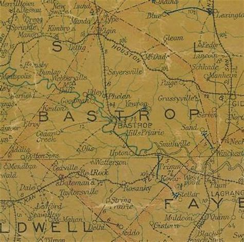 bastrop texas map grassyville texas