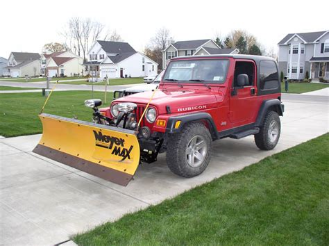 Snow Plow For A Jeep Wrangler Plowing With A Jeep Wrangler Rubicon Trail Ride