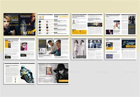 News Magazine Template In Psd Word Publisher Indesign Best Magazine Website Templates
