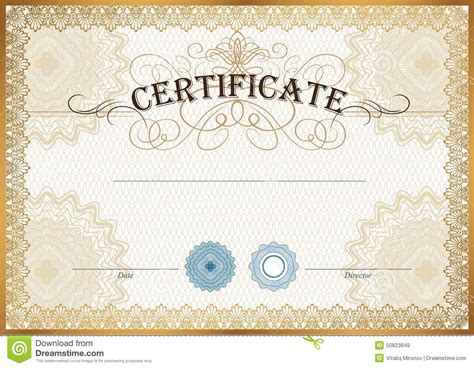 certificate template stock vector image of coupon honor