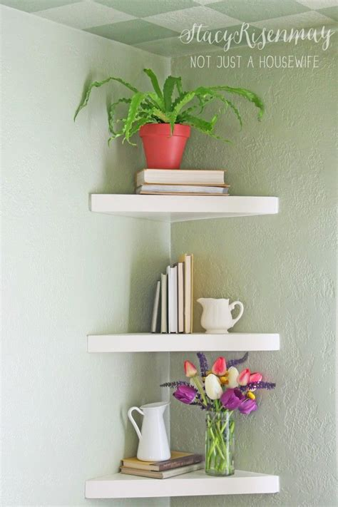 25 best ideas about floating corner shelves on