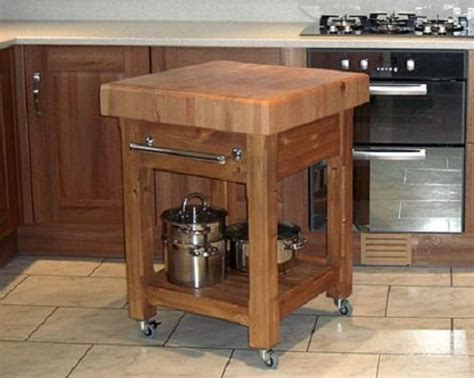 Small Kitchen Butcher Block Island Butcher Block Island With Wheels Jen Joes Design Butcher Block Island A Weekend In The