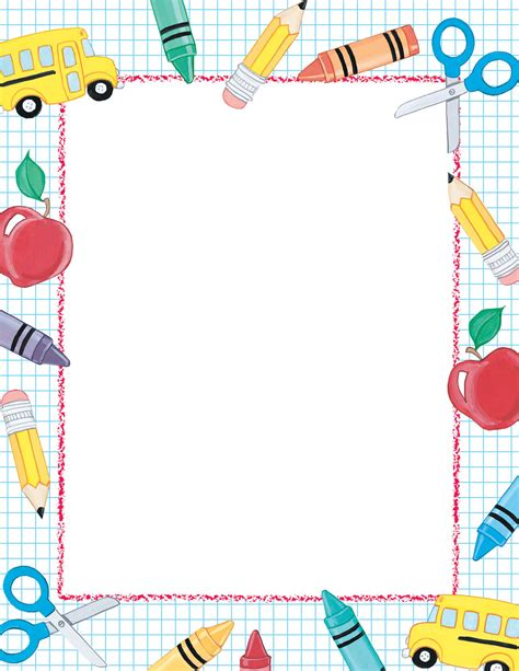 Paper With Children - border paper clipart best