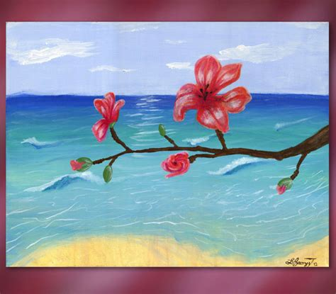 acrylic painting easy flower easy acrylic flower paintings