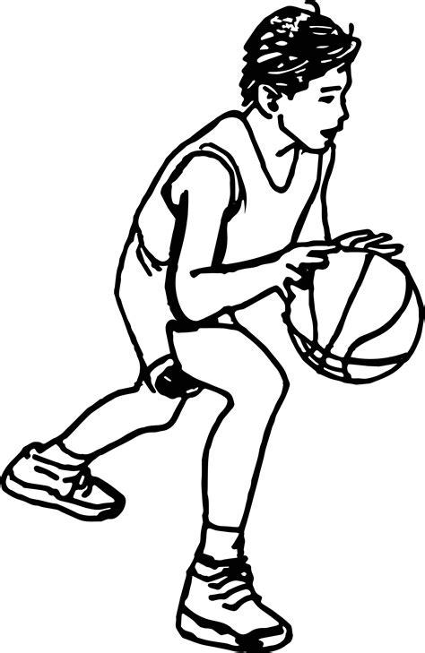 real basketball coloring pages playing boy drawing cartoon boy playing basketball