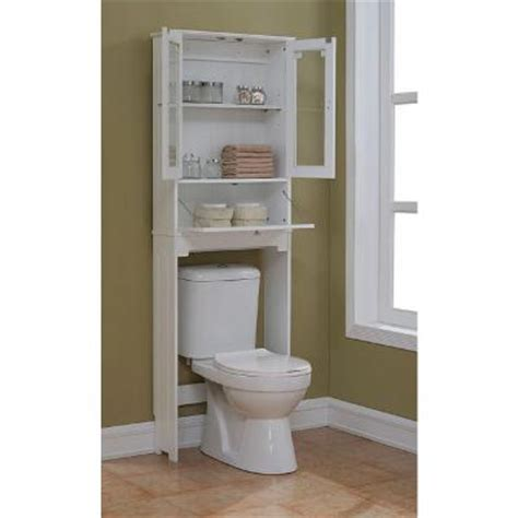 over the toilet etagere runfine etagere 24 in w x 69 in h x 8 in d over the toilet space saver storage in white