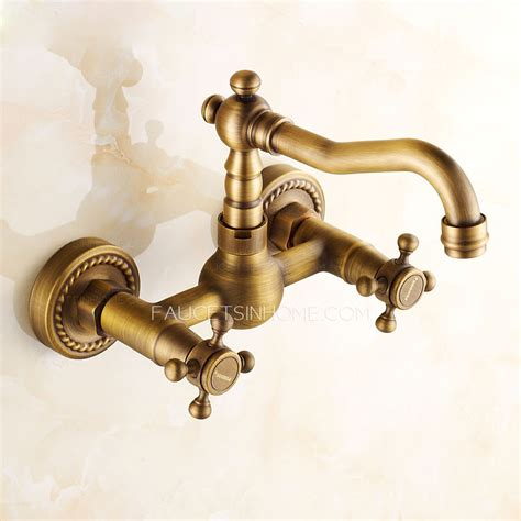 antique brass bathroom sink faucets vintage antique brass rotatable wall mounted bathroom sink