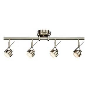 led track light fixtures shop kichler lighting 4 light 35 25 in brushed nickel led