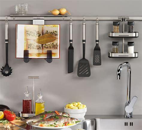 kitchen utensil rail