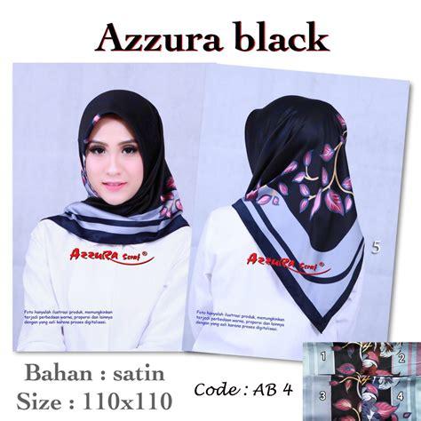 Kerudung Segiempat Carla Black 1 segiempat azzura black ab 4 sentral grosir jilbab