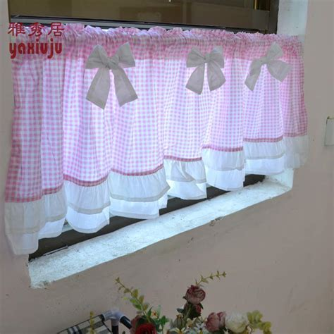 pink kitchen curtains promotion shop for promotional pink