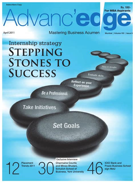 Mba Internships Indeed by Advanc Edge Mba By Ims Publications Issuu