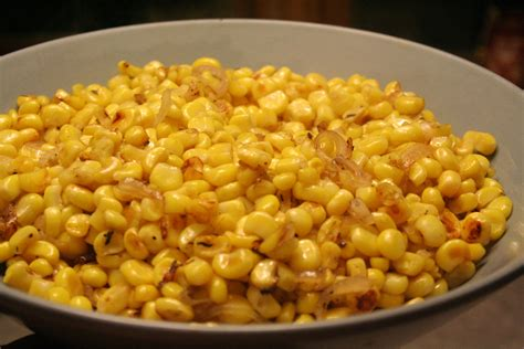 dish recipes caramelized corn and shallots swellkid
