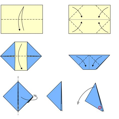 Make Paper Popper - file origami paper popper type3 svg wikimedia commons