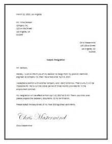 Letter Of Resignation Word by Best 25 Resignation Letter Ideas On Resignation Sle Resignation Template And