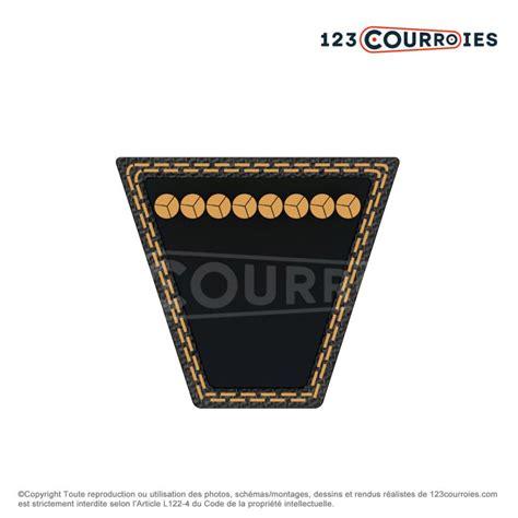 courroie trap 233 zoidale lisse spa1750 optibelt 123courroies