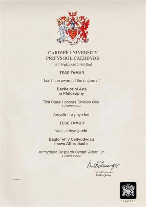 Cardiff Metropolitan Mba Certificate by Degree Certificate 93399 Notefolio