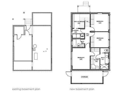 Story House Floor Plans With Basement And Ranch House Plan Ranch House Floor Plans With Basement
