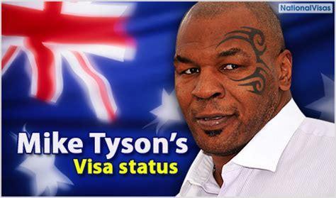 Mike Tyson Arrest Records Mike Tyson S Tour In Jeopardy Due To Visa Status Australia Visa Immigration