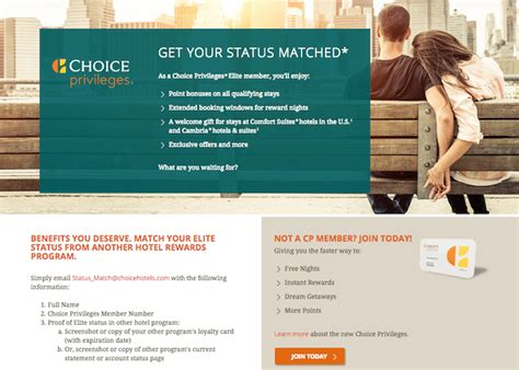 comfort inn loyalty program choice privileges offering elite status matches one mile