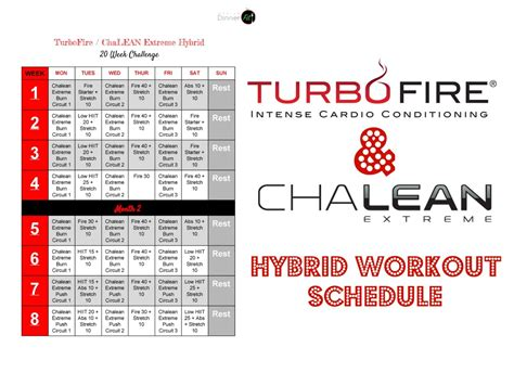 Chalean Workout Calendar Check Out This New Turbofire Chalean Hybrid