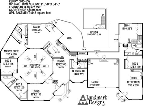 Large Ranch Floor Plans Large Ranch House Plans Inspiration House Plans 64580