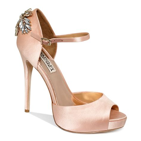evening high heels lyst badgley mischka high heel evening pumps in pink