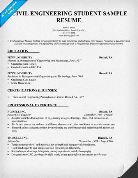 fantastic resume format in engineering student civil engineering student resume civil engineering