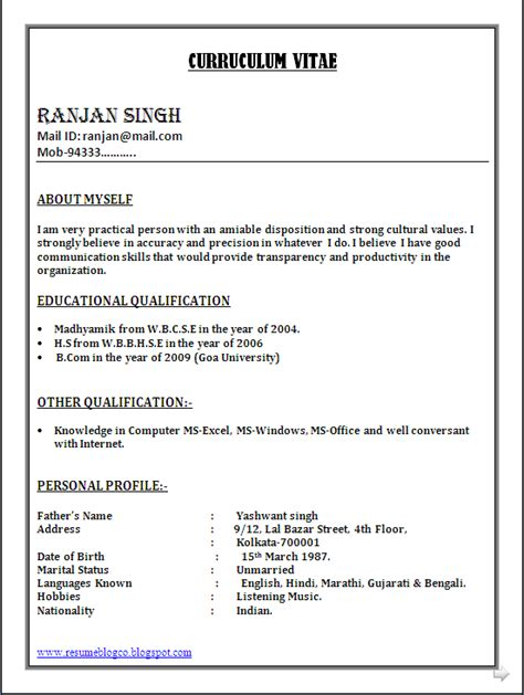 simple resume format in ms word in india bpo call centre resume sle in word document resume formats