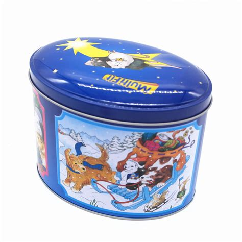high quality decorative custom made christmas gift tin box