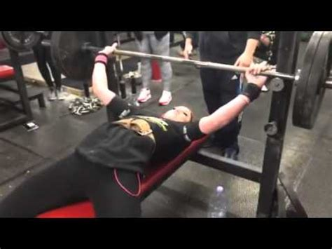 100kg bench press bronwyn taylor 18 100kg 220lbs bench press youtube