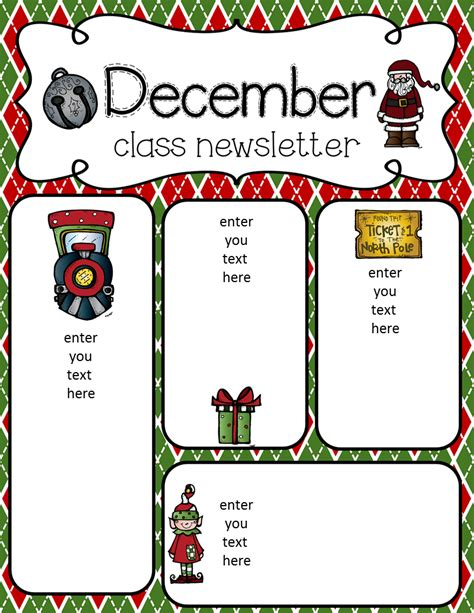December Newsletter Template simply delightful in 2nd grade december newsletter freebie