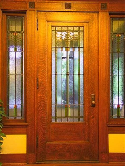 Prairie Style Exterior Doors Arts And Crafts Windows And Doors