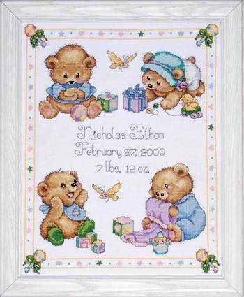 Cross Stitch Baby Birth Record Baby Birth Announcements Cross Stitch Patterns Kits 123stitch