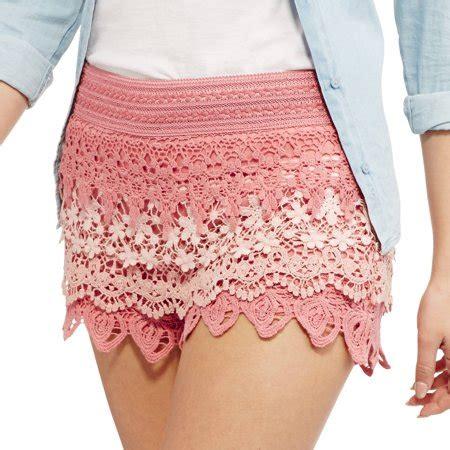 Crochet Shorts no boundaries juniors layered crochet shorts walmart